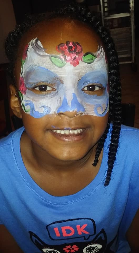 mardi gras face paint by funfacesballoon