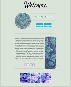 f2u - blue succulents non-core custombox