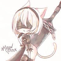 [F] NieR: automata 2B by Meow-Vortex