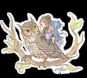 [c] Owl by Meow-Vortex