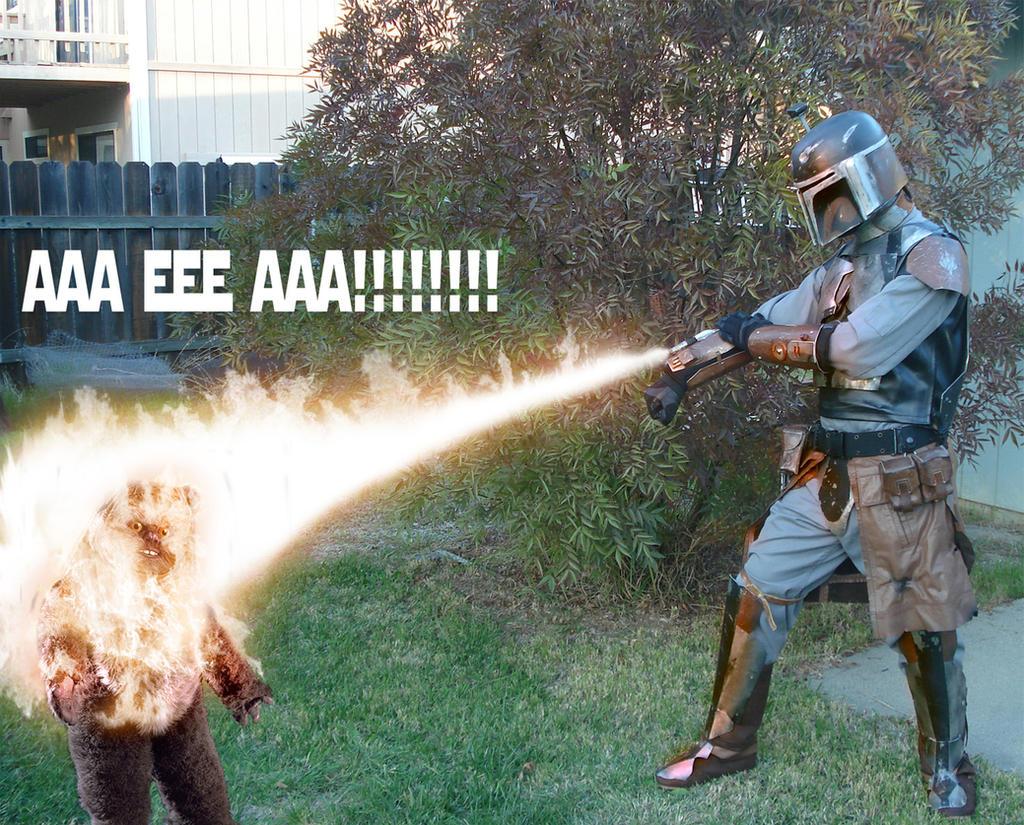 Ewok burning by jadentracyn on deviantart - Ewok wallpaper ...