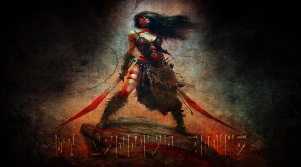 Barbarian Woman Wallpaper by JadenTracyn