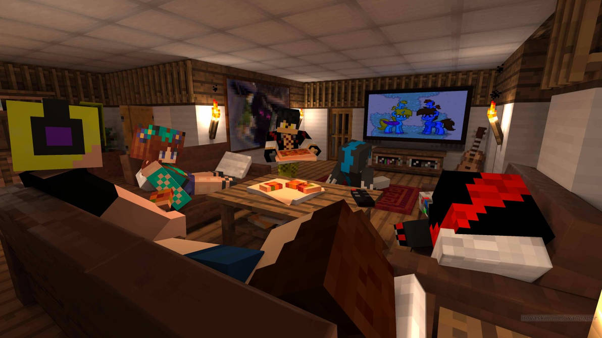 Pizza And Video Games With 5 Of Meh Best Friends By Mamesthedragon