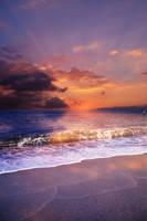 Sunset Beach Premade Background STOCK by KijaniKinyonga