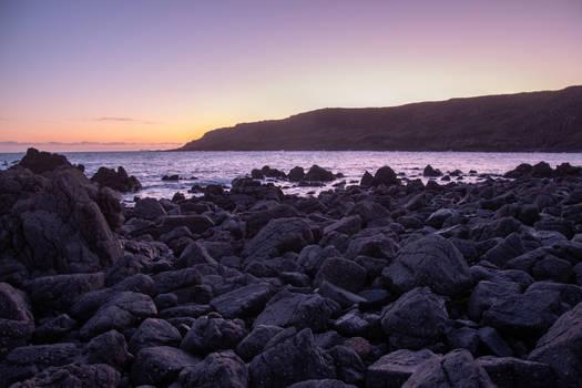 Rocky Beach Sunset STOCK
