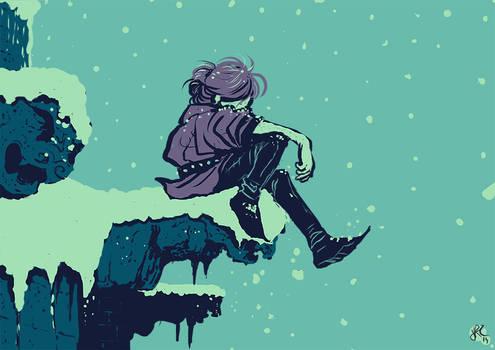 Llorando en la nieve