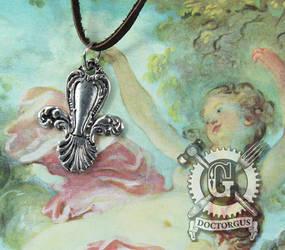 Spoon Fleur de Lis Necklace