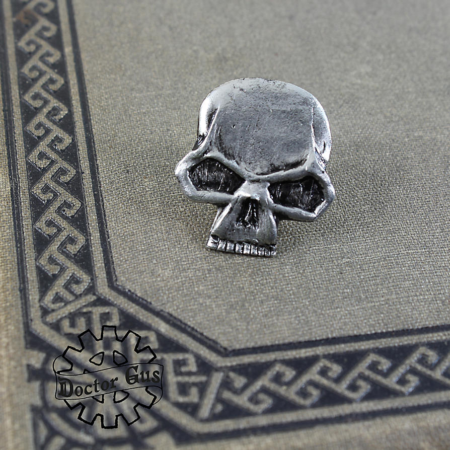 Skull Tie Pin by Doctor-Gus