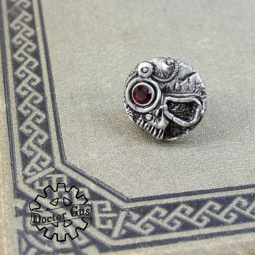 Servo Skull Pin by Doctor-Gus