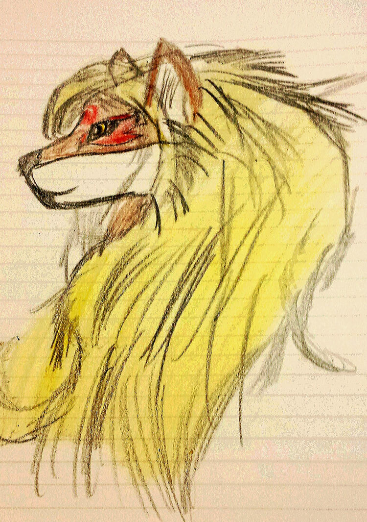 Tribal Alisa wolf by Justicewolf337