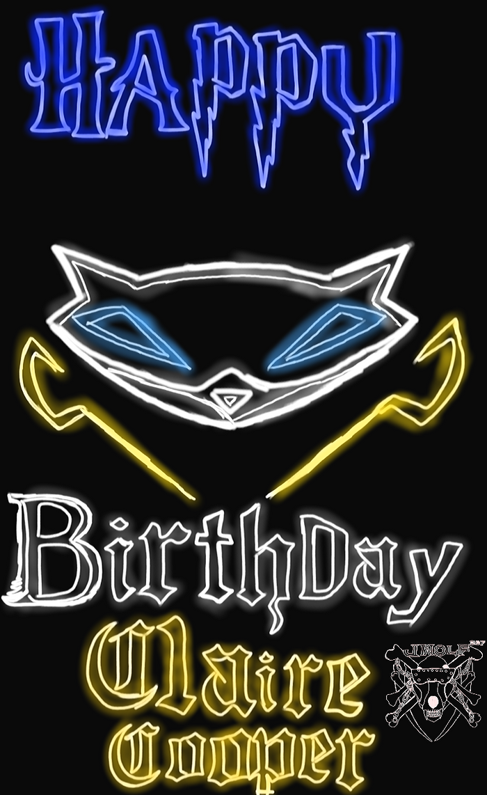 Neon Lights Happy birthday Claire-Cooper by Justicewolf337