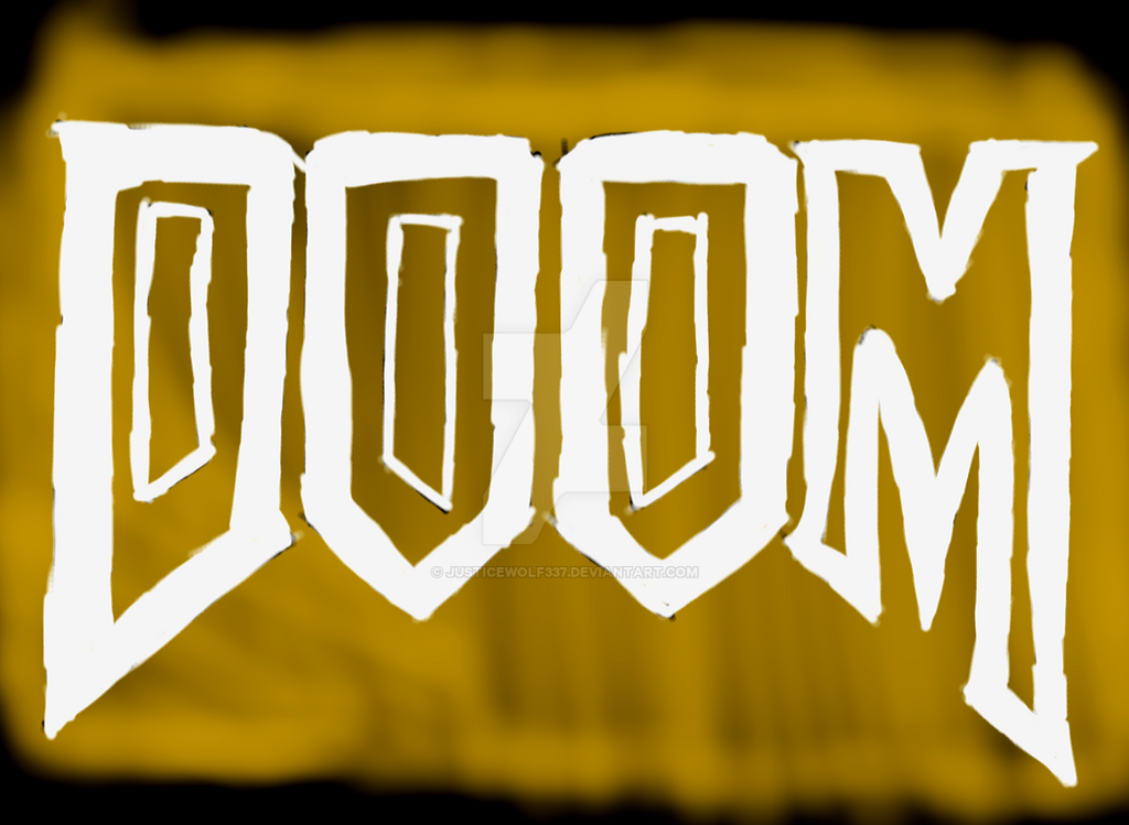 DOOM Spray paint style by Justicewolf337