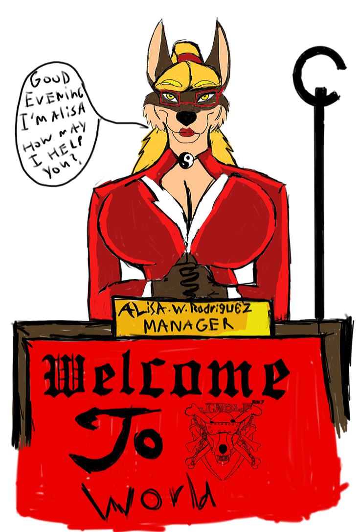 Jwolf337 Manager Ms. Alisa wolf by Justicewolf337