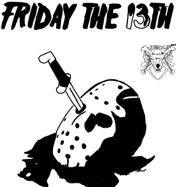 Inktober 15 Friday The 13th by Justicewolf337