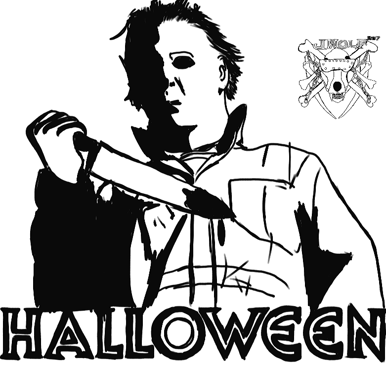 Inktober 16 Michael Myers by Justicewolf337