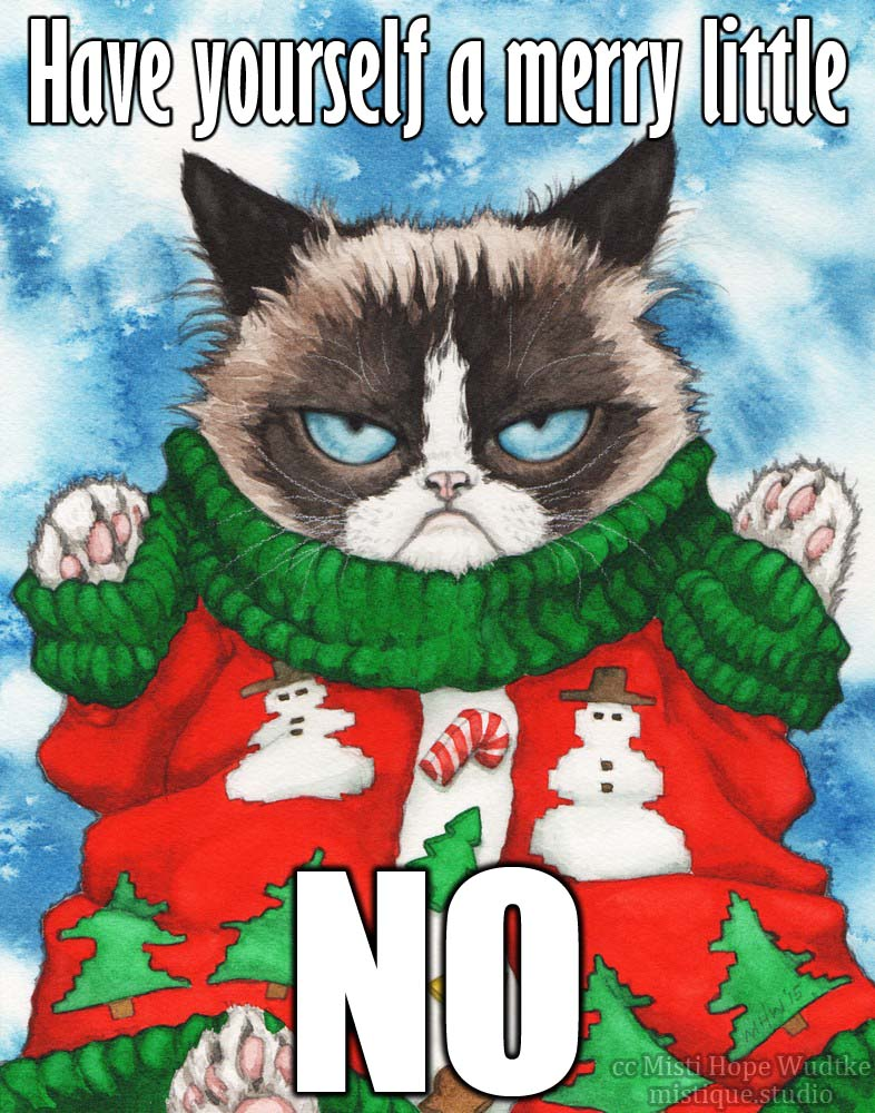 Grumpy Cat Ugly Christmas Sweater.Grumpy Cat S Ugly Sweater The Meme By Mistiquestudio On