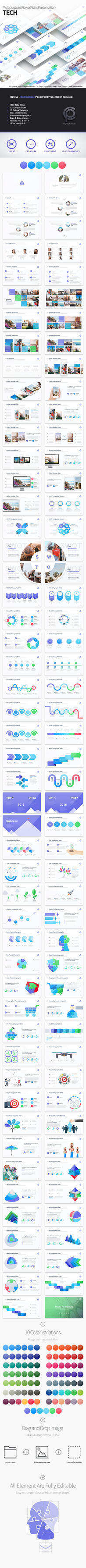 Tech - Multipurpose PowerPoint Presentation by Pulsecolor