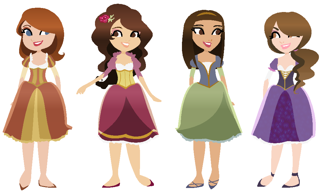 Four Sisters by AiLuz on DeviantArt