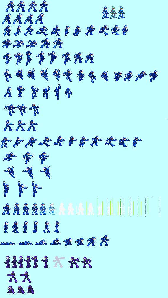 MMZ Style X Sprites by MegamanX-2009