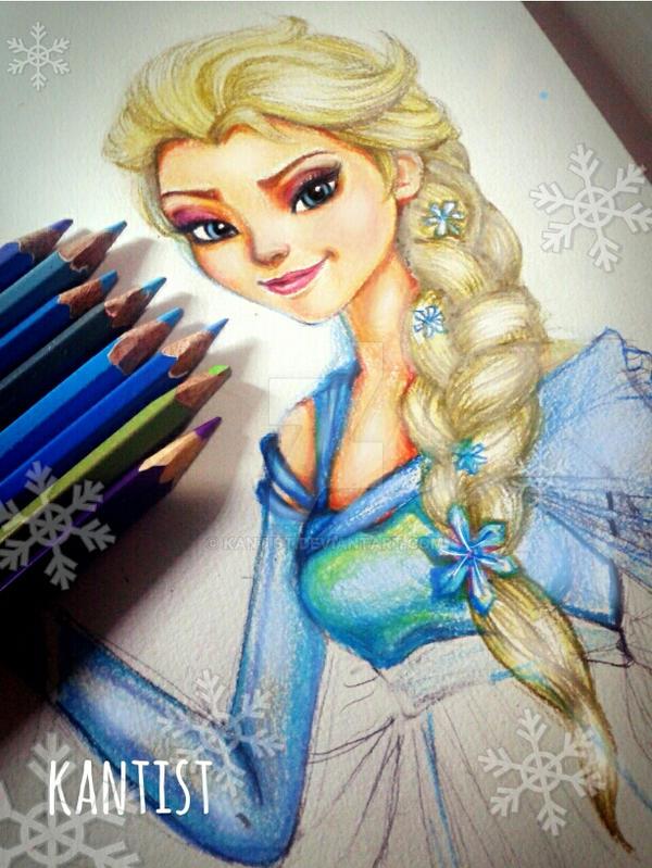 Elsa@Frozen by kantist