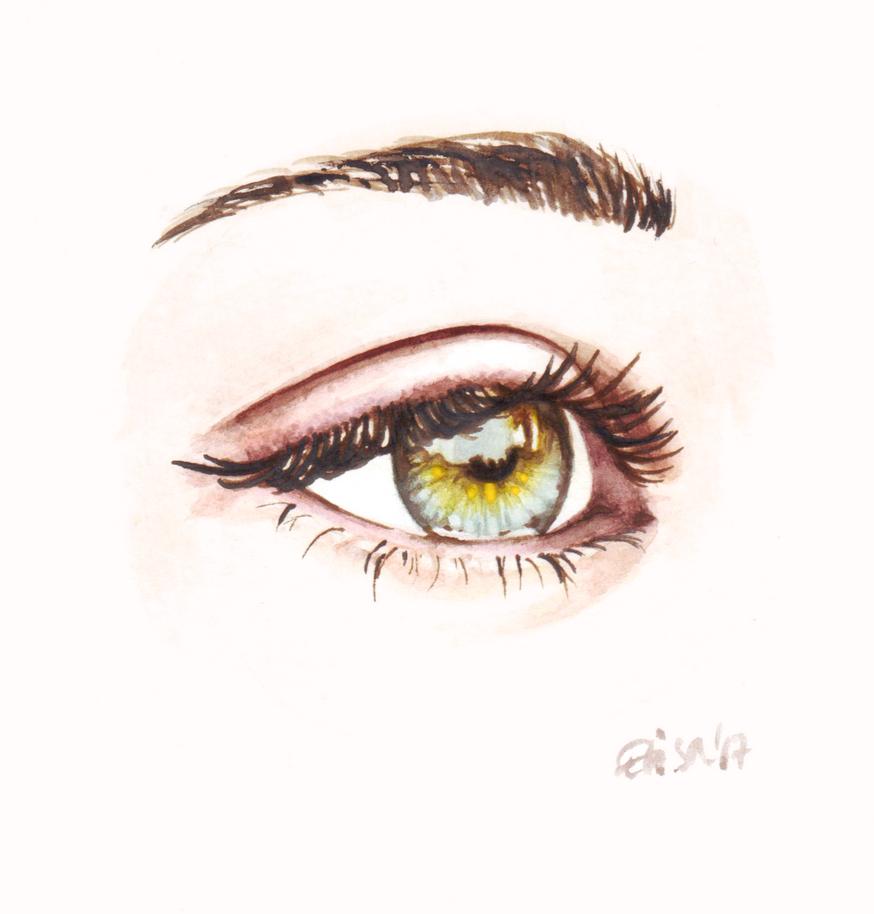 Eye study - watercolor by WhiteMeche