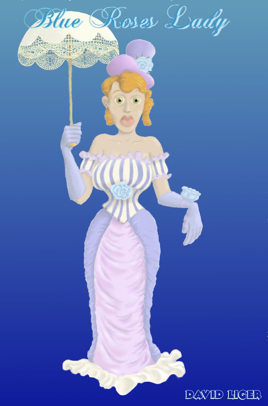 Blue Roses Lady