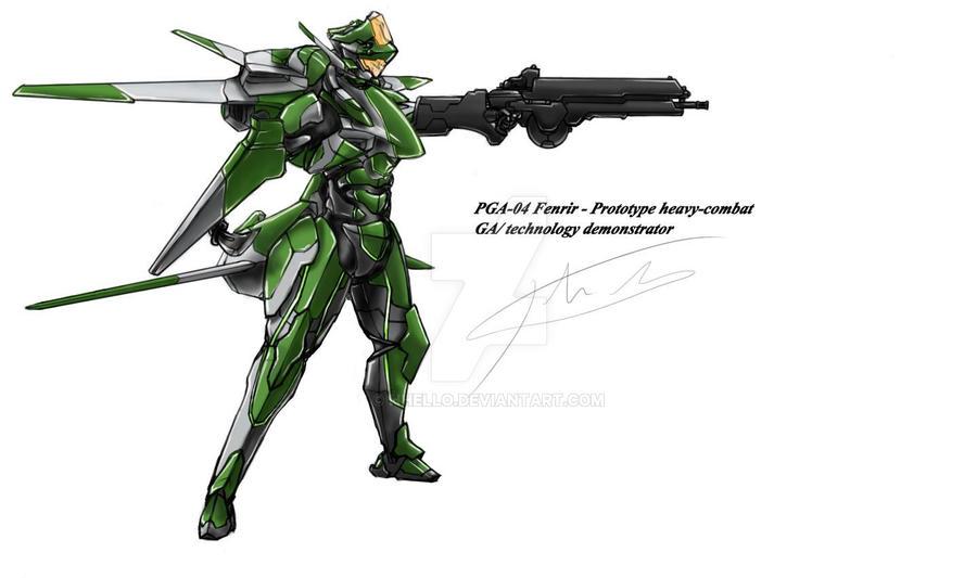 PGA-04 Fenrir Armor by hhello