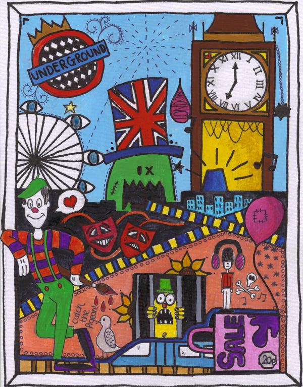 London doodle by PORGEcreations