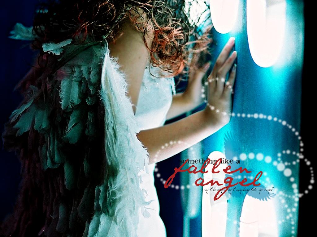 Fallen Angel Wallpaper by xx-Skyrose