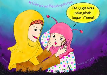 I Wanna Wear Hijab Like Mom! by xzalincy