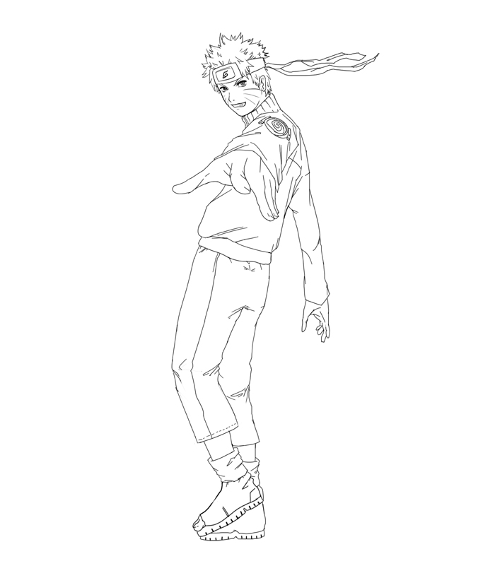 Naruto Lineart by stan522