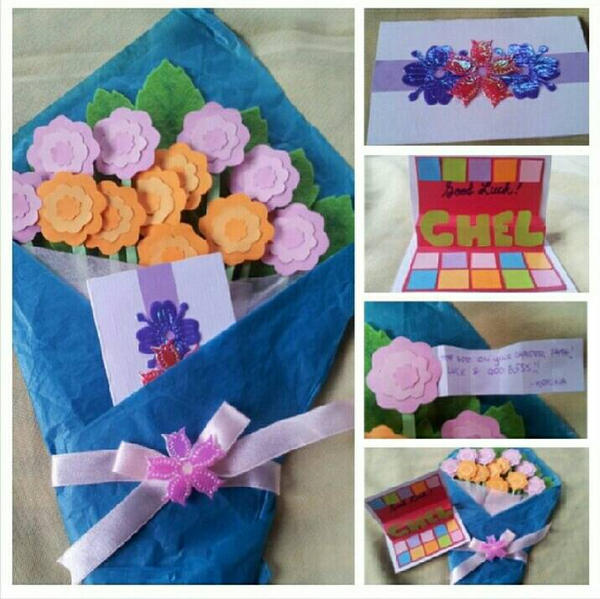 Bouquet Farewell Card by jamesLi