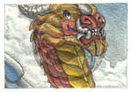 ACEO Flying Dragon