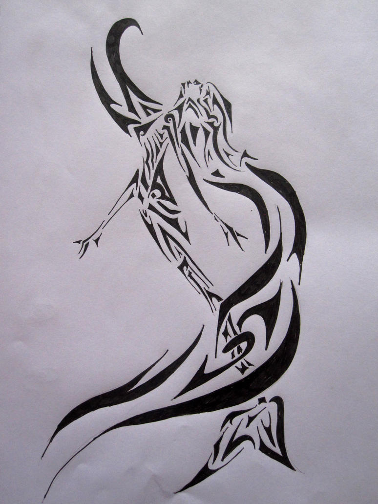 tribal mermaid by sofeye on deviantart. Black Bedroom Furniture Sets. Home Design Ideas