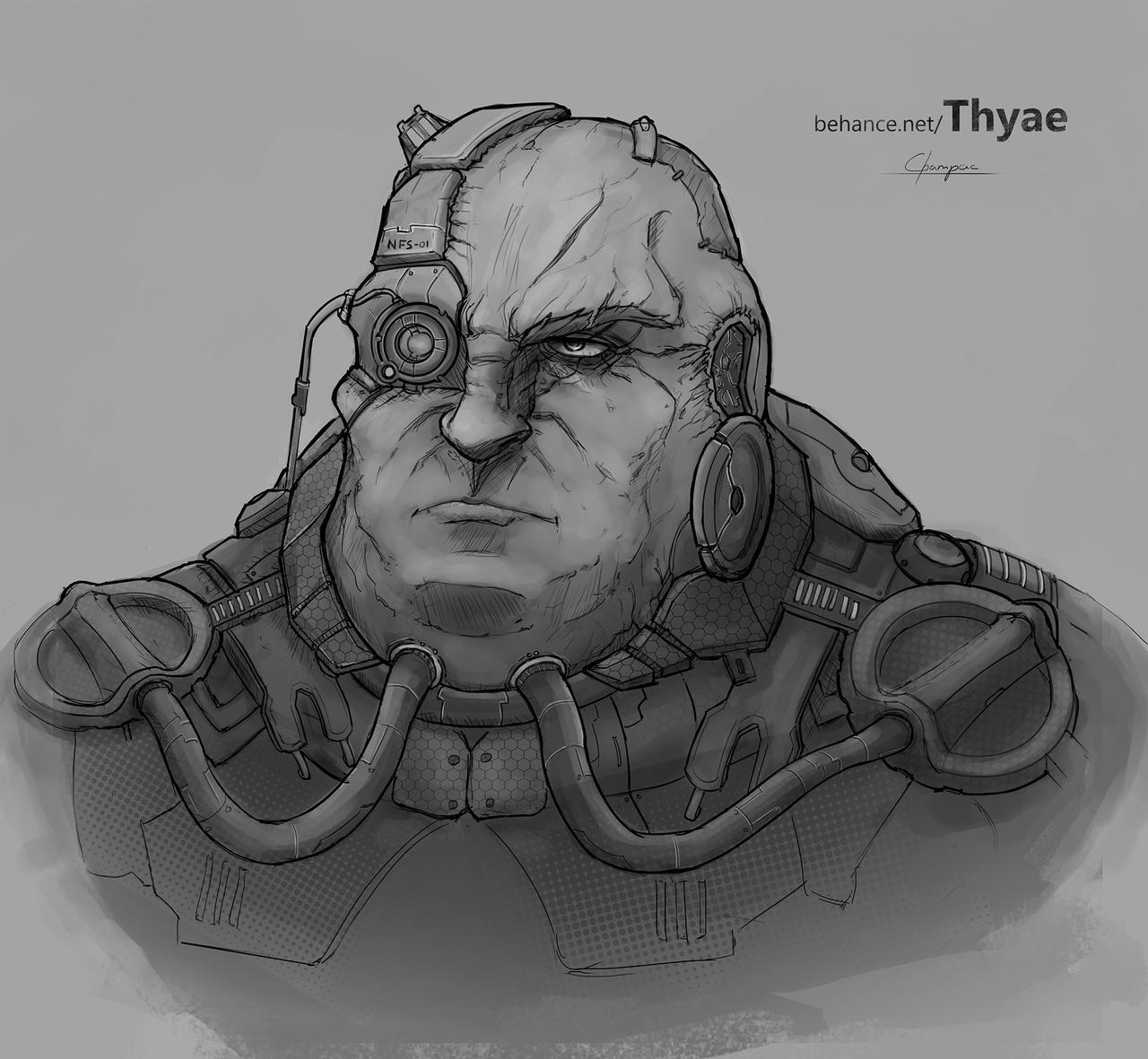 Cyborg concept by Thyae