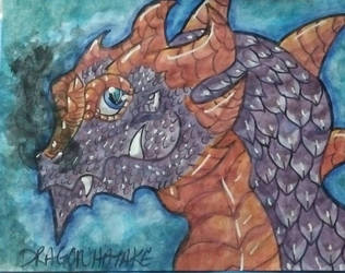Dragon Watercolor Painting  by DRAGONHATAKE