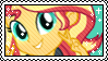 EQG Sunset Shimmer Stamp by Skynamic