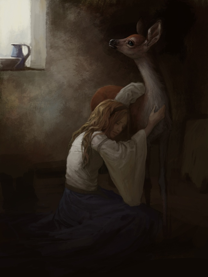 Sister and the Fawn WIP by Zephyri