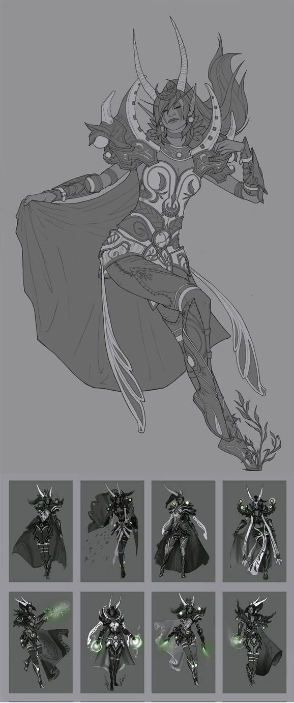 Ysera Redesign Linework and Thumbnails by Zephyri