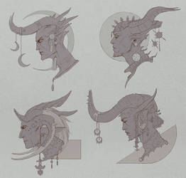 Demon Heads by Zephyri