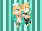 Chibi Kagamine Rin and Len V4X