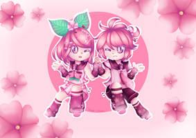 Sakura Rin and Len by JustARandomPers0n