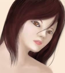 Practice portrait by KashiDesu