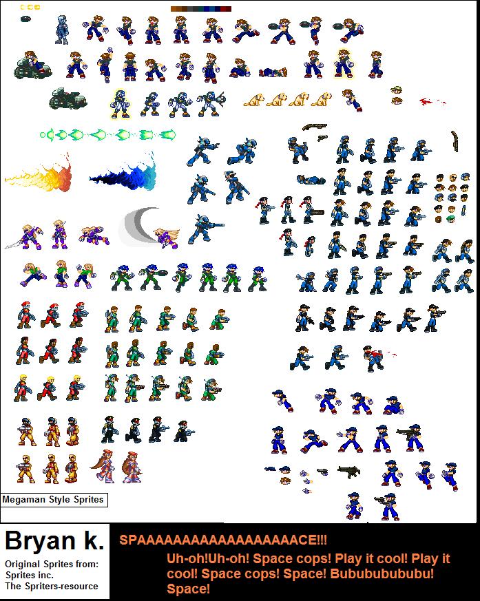 Megaman style sprites by Firewarrior117
