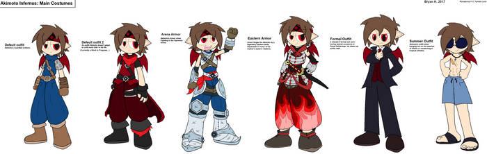 Alternate Costumes -Akimoto- by Firewarrior117
