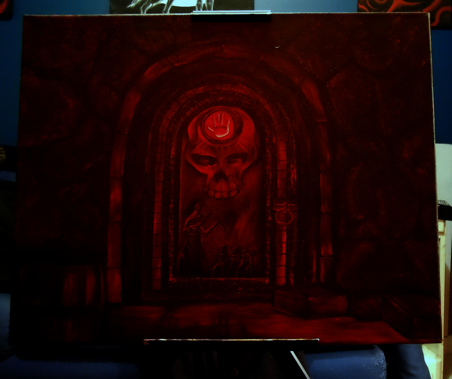 Dark Brotherhood Door Painting by Diuqil on DeviantArt