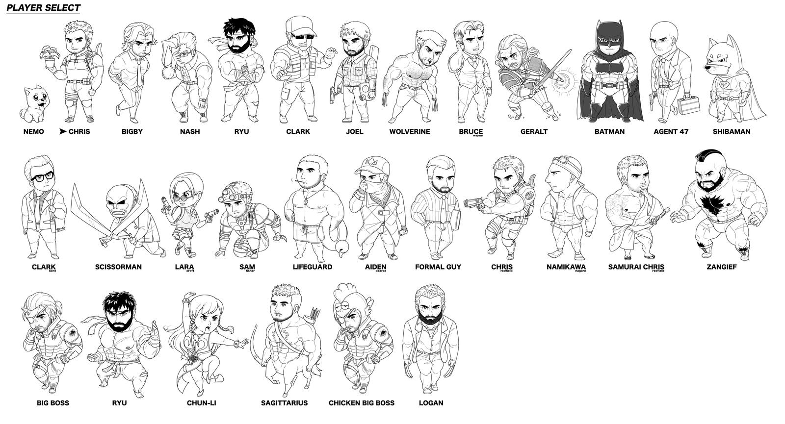 Chibi Characters (08 March Update) by iszac87