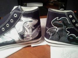 pokemon shoes in progress by Miss-Melis