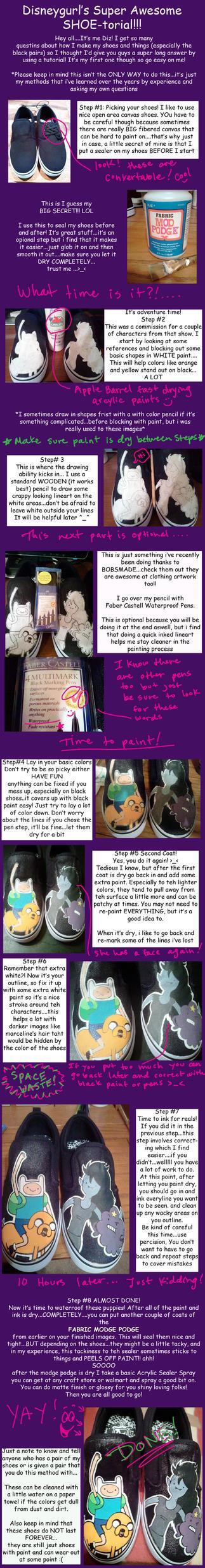 Shoe painting tutorial by Miss-Melis