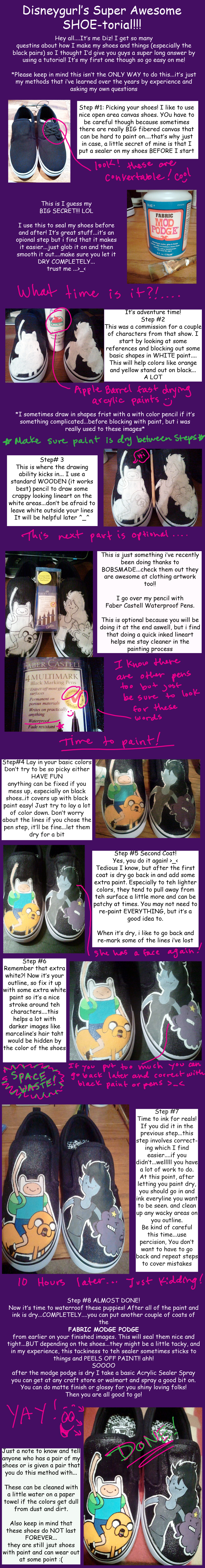 Shoe painting tutorial by Miss-Melis